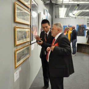 Pasquale President of the Florence Biennale visited the exhibition 290x290 - The New Florence Biennale 2013 - IX Edition
