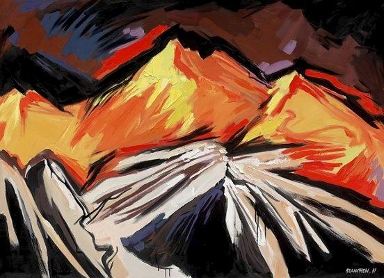 Sean Chen, Tai Poutini National Park-South island, 145x200cm; Oil on canvas, 2011