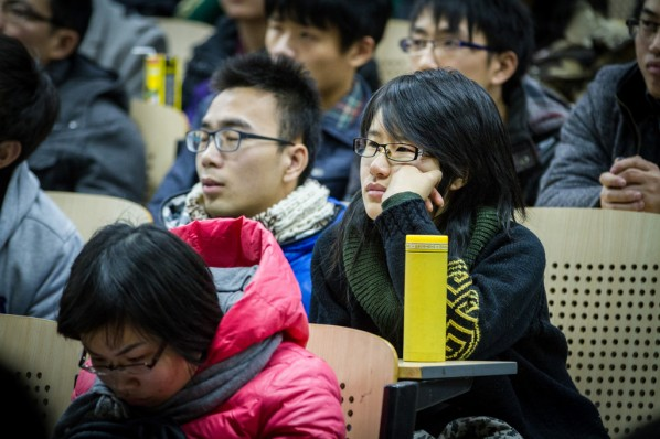 """View of """"Ideal and Reality"""" a lecture given by Xie Dongming 04"""