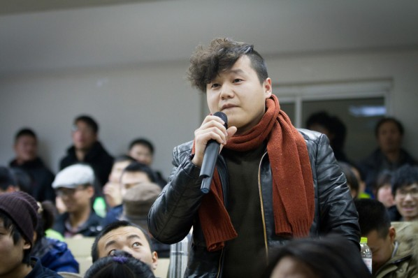 """View of """"Ideal and Reality"""" a lecture given by Xie Dongming 05"""