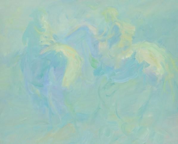 Wang Jingwu, From Lin Muge, 2013; oil on canvas, 80x100cm