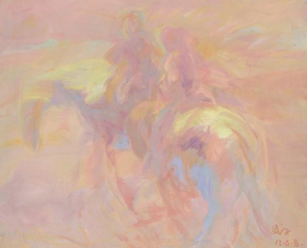 Wang Jingwu, Horse, 2013; oil on canvas, 80x100cm