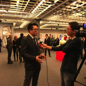 Zhang Chenlin Vice president of Italian Association of Chinese Artists was interviewed by CCTV 290x290 - The New Florence Biennale 2013 - IX Edition