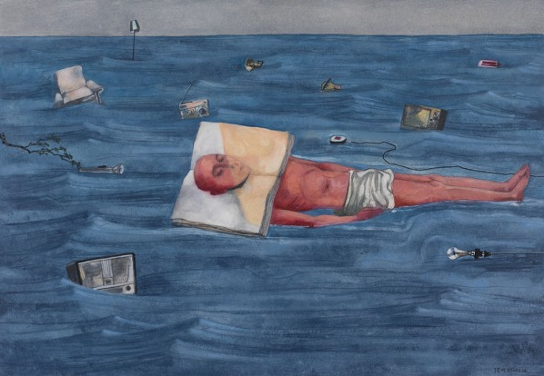 Zhang Xiaogang_The Prisoner of Book No.4_2013