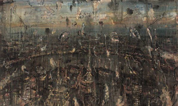 Zhao Zhengrong, I see you in my dream and talk to loneliness, 2012; oil on canvas, 150x250cm