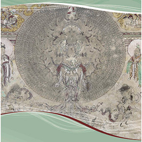 """The Public Exhibition of Dunhuang Mural Treasure in University"" at the Art Museum of Yanjiao Campus of CAFA"