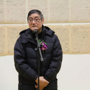 01 Pan Gongkai President of CAFA made a speech at the opening ceremony 290x290 - Art and the Mass - Exhibition of Works and Literature to Commemorate 100th Birthday of Hong Yiran