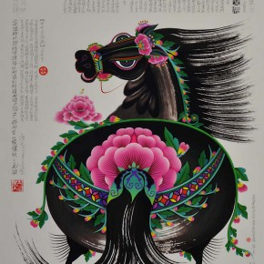 "02 Lv Shengzhong,""Precious Horse"", ultra-giclee art print, print on paper, 110 x 140 cm, 2013, CAFA ART MUSEUM COLLECTION"