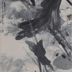 03 Zhang Daqian Lotus in the Breeze 1961 ink and color on paper 180×97.3cm 290x290 - Vast Territory of the Motherland: Zhang Daqian Art Exhibition Opening January 20 at the National Art Museum of China