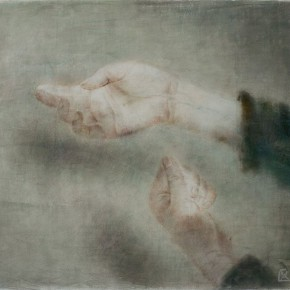 """05 Xia Yu """"Hand Series No.10"""" tempera on wood board 40 x 50 cm 2013  290x290 - """"Xia Yu: Old Painting Exhibition"""" Unveiled at the Teaching Exhibition Hall of Chinese Academy of Oil Painting"""