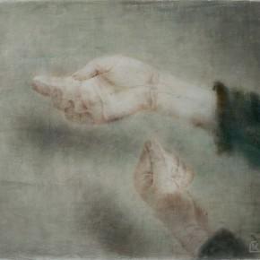 "05 Xia Yu, ""Hand Series No.10"", tempera on wood board, 40 x 50 cm, 2013"