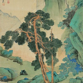 05 Zhang Daqian Li Jianfa in the Landscape of Forest and Mountain 1950 ink and color on silk 122x56cm 290x290 - Vast Territory of the Motherland: Zhang Daqian Art Exhibition Opening January 20 at the National Art Museum of China