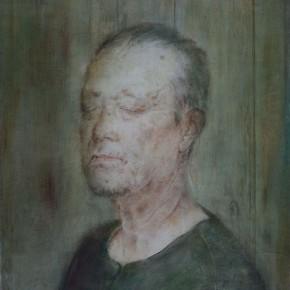 """06 Xia Yu, """"Portrait of an Old Man"""", tempera on wood board, 70 x 55 cm, 2012"""