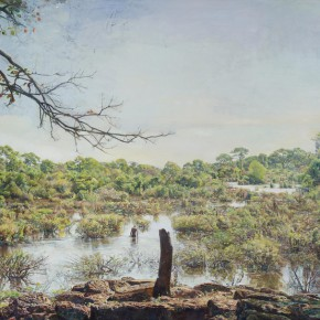 "07 Lu Liang ""Angkor Swamp"" 286 x 480 cm oil on canvas 2010 – 2014  290x290 - Choosing: Six Cases from CAFA – CAFA Annual Fine Arts Nomination Exhibition 2013"