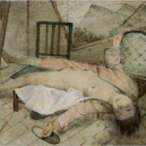 "07 Xia Yu, ""Studio"", tempera on wood board, 100 x 140 cm, 2012"