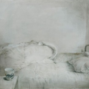 """08 Xia Yu """"Bed Series No.1"""" tempera on wood board 90 x 130 cm 2011 290x290 - """"Xia Yu: Old Painting Exhibition"""" Unveiled at the Teaching Exhibition Hall of Chinese Academy of Oil Painting"""