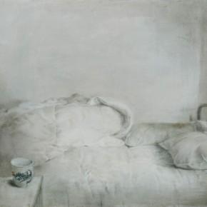 "08 Xia Yu, ""Bed Series No.1"", tempera on wood board, 90 x 130 cm, 2011"