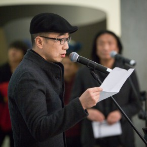 "12 Tang Hui represented artists to speak at the opening ceremony of the ""Choosing Six Cases from CAFA"" exhibition 290x290 - Focus on the Young Teachers of CAFA – ""Choosing: Six Cases from CAFA"" Exhibition is Unveiled"