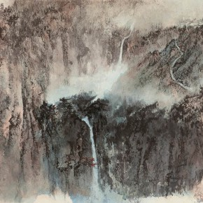 12 Zhang Daqian Evening Mist Drawing 1980 ink and color on paper 70x138cm 290x290 - Vast Territory of the Motherland: Zhang Daqian Art Exhibition Opening January 20 at the National Art Museum of China