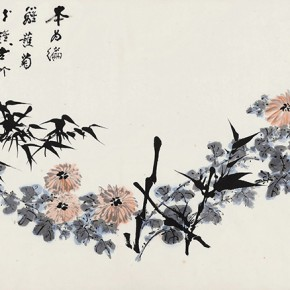 15 Zhang Daqian Bamboo and Chrysanthemum Drawing 1976 ink and color on paper 60x135cm 290x290 - Vast Territory of the Motherland: Zhang Daqian Art Exhibition Opening January 20 at the National Art Museum of China