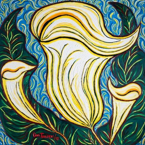 Ana Tzarev, Love Song, 195x195cm, Oil on Linen,  2012