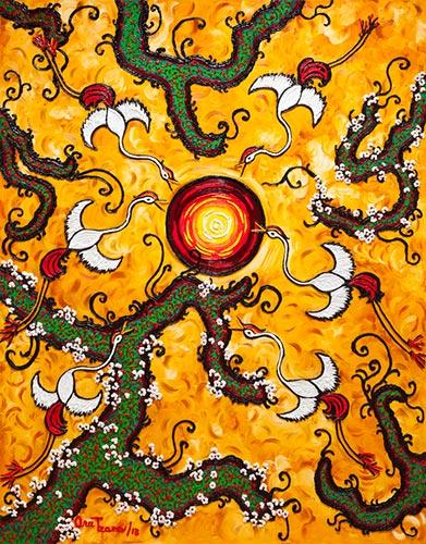 Ana Tzarev, Wonderland Dance, 250x195cm, Oil on Linen, 2013