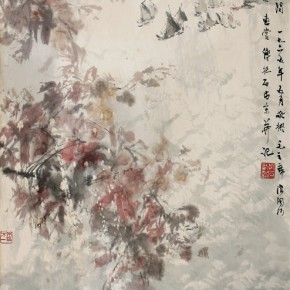 """Fu Baoshi """"Artistic Conception of Mao Zedong's 'Langtaosha·Beidaihe River'"""" vertical scroll colored ink on paper 68 x 35 cm 1965 290x290 - ART • SANYA Art Festival Special Exhibition Paying a Tribute to Traditional Chinese Painting Art Opened in Sanya"""
