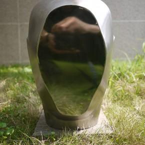 "Fu Zhongwang ""Mirror of Face"" stainless steel 65 x 45 x 50 cm 2003 290x290 - ""Re-Portrait: 1 Sanguandian 2013 Art Exhibition"" Held in the Hubei Museum of Art"