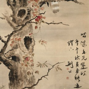 """Gao Jianfu """"A Hero Stands Independently"""" vertical scroll colored ink on paper 175.5 x 59 cm 1930 290x290 - ART • SANYA Art Festival Special Exhibition Paying a Tribute to Traditional Chinese Painting Art Opened in Sanya"""