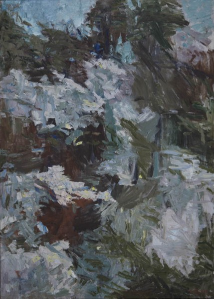 Huang Rui, Language Color Landscape: Again, 2013; oil on canvas, 168x120cm