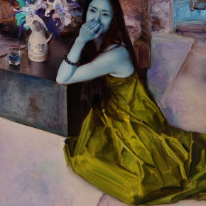"""Pang Maokun """"At the End of Blossom Season No.13"""" oil on canvas 130 x 100 cm 2013 290x290 - """"Re-Portrait: 1 Sanguandian 2013 Art Exhibition"""" Held in the Hubei Museum of Art"""