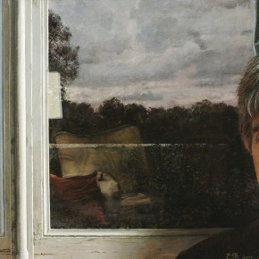 """Xu Mangyao """"Charles in Front of the Window"""" oil on canvas 60 x 46 cm 2007  290x290 - """"Re-Portrait: 1 Sanguandian 2013 Art Exhibition"""" Held in the Hubei Museum of Art"""