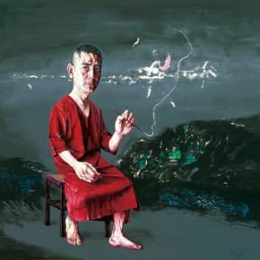 "Zeng Fanzhi ""Self Portrait"" oil on canvas 200 x 200 cm 2009  290x290 - ""Re-Portrait: 1 Sanguandian 2013 Art Exhibition"" Held in the Hubei Museum of Art"
