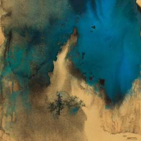 """Zhang Daqian """"Splash of Color in 1967"""" paper on cardboard colored ink on paper 127 x 63 cm 1967 290x290 - ART • SANYA Art Festival Special Exhibition Paying a Tribute to Traditional Chinese Painting Art Opened in Sanya"""
