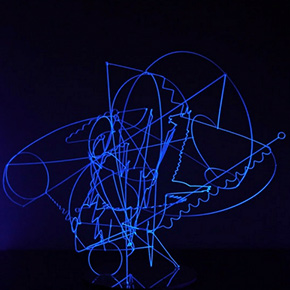 "Art Labor Gallery presents ""Wired Space"" for artist Lu Xinjian showcasing his new wire sculptures"