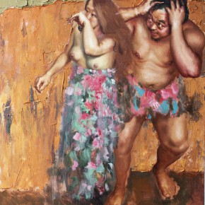 """016 Wang Huaxiang, """"Men Can't Understand the Women"""", oil on canvas, 120 x 150 cm, 2013"""