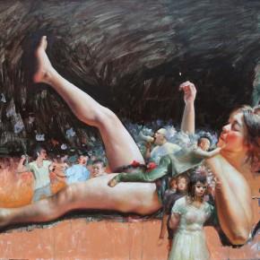 """023 Wang Huaxiang """"A Day"""" 110 x 80 cm oil painting 2012 290x290 - Wang Huaxiang"""