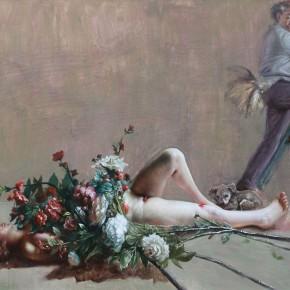 "025 Wang Huaxiang, ""Don't Believe Men"", 110 x 80 cm, oil painting, 2012"