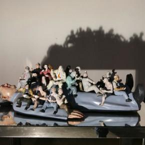 "026 Wang Huaxiang, ""The Last Supper"", 81 x 50 x 24 cm, 2008"