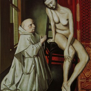 "031 Wang Huaxiang, ""A Saint"", oil on canvas, 54.9 x 46.6 cm, 1994"