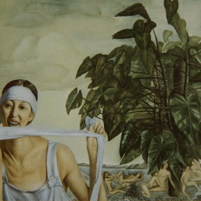 "034 Wang Huaxiang, ""Mountain Demons"", oil on canvas, 93 x 70.5 cm, 1995"
