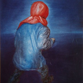 """037 Wang Huaxiang, """"Human Being No.10"""", oil on canvas, 85 x 53 cm, 2000"""
