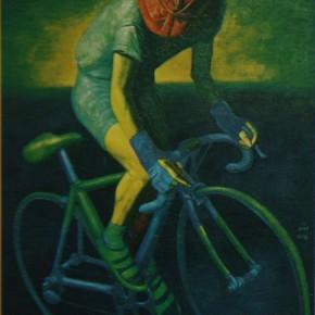 """038 Wang Huaxiang """"Human Being No.2"""" oil on canvas 194 x 130 cm 2000 290x290 - Wang Huaxiang"""