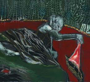 """04 Anna, """"A Doll Plays with a Ship"""", oil on canvas, 112 x 162 cm, 2012"""