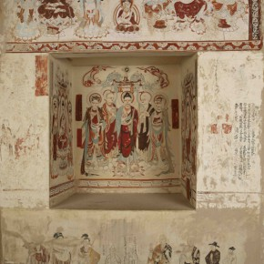 "04 Preaching Figure and Shrine south wall of corridor of Cave 220 in Mogao Grottoes 290x290 - Zhejiang Art Museum Launches ""Bright World – Dunhuang Art Exhibition"""