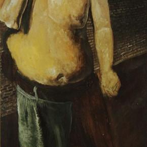 """040 Wang Huaxiang """"Prisoner"""" oil on canvas 175 x 70 cm 1993 290x290 - Wang Huaxiang"""