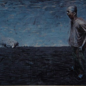 """043 Wang Huaxiang, """"Why"""", oil on canvas, 200 x 300 cm, 2007"""