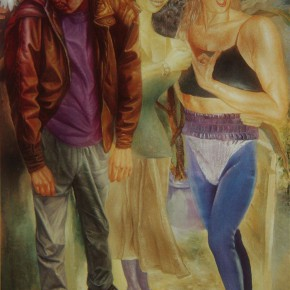 """044 Wang Huaxiang, """"Young People"""", oil on canvas, 185 x 135 cm, 1994"""