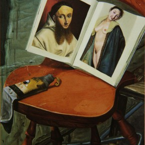 """047 Wang Huaxiang, """"Famous Painting"""", oil on canvas, 1995"""