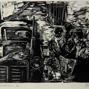 """048 Wang Huaxiang """"After Selling Meats"""" 47 x 63 cm 1990 290x290 - Wang Huaxiang"""